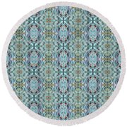 Round Beach Towel featuring the mixed media Chuarts Epic 200a by Clark Ulysse