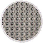 Round Beach Towel featuring the mixed media Chuarts  Epic 47 C2 by Clark Ulysse