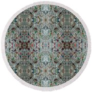 Round Beach Towel featuring the mixed media Chuarts Epic 56d by Clark Ulysse