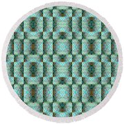 Round Beach Towel featuring the mixed media Chuarts Epic Illusion 1b2 by Clark Ulysse