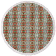 Round Beach Towel featuring the mixed media Chuarts Epic Jane  by Clark Ulysse
