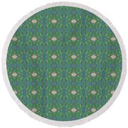 Round Beach Towel featuring the mixed media Chuarts Epic Pr 7t2 by Clark Ulysse