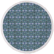 Round Beach Towel featuring the mixed media Chuarts Pr Series 5bfa By Clark Ulysse by Clark Ulysse
