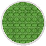 Round Beach Towel featuring the mixed media Chuarts Epic 7000gp by Clark Ulysse