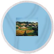 Chubby's Farm Round Beach Towel