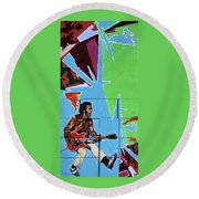Chuck Berry Round Beach Towel