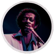 Chuck Berry Round Beach Towel by Paul Meijering