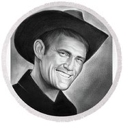 Chuck Connors Round Beach Towel