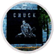 Chuck Round Beach Towel