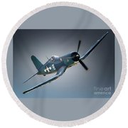 Chuck Wentworths F4u Corsair No.8 Round Beach Towel