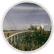 Chuckanut Bridge Round Beach Towel