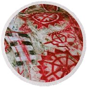 Chumash Painted Cave State Historic Park Round Beach Towel