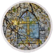 Church Ghost Round Beach Towel