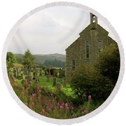 Church In Isle Of Skye Round Beach Towel