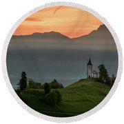 Church Jamnik Round Beach Towel