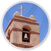 Church Of Socaire Round Beach Towel