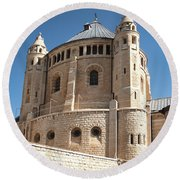 Round Beach Towel featuring the photograph Church Of The Dormition by Mae Wertz