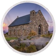 Church Of The Good Shepherd Round Beach Towel