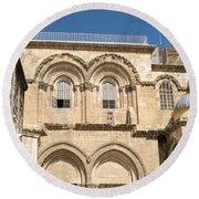 Church Of The Holy Sepulchre Round Beach Towel