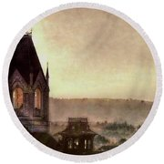Church Steeple 4 For Cup Round Beach Towel