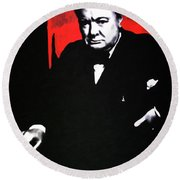 Churchill Round Beach Towel