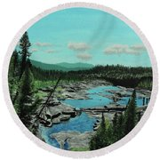 Churchill River Round Beach Towel
