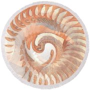Churning Round Beach Towel