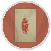 Round Beach Towel featuring the painting Cicada Chop by Debbi Saccomanno Chan