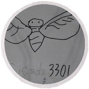 Cicada3301 Round Beach Towel