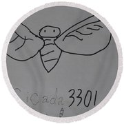Cicada3301 Round Beach Towel