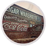 Cigar Warehouse Greenville Sc Round Beach Towel by Kathy Barney