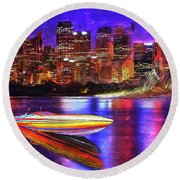 Cigarette Calm Round Beach Towel