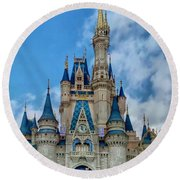 Cinderella Castle Round Beach Towel