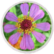 Round Beach Towel featuring the photograph Cinderella Flower by Mary Ellen Frazee