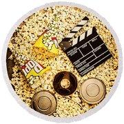 Cinema Of Entertainment Round Beach Towel by Jorgo Photography - Wall Art Gallery