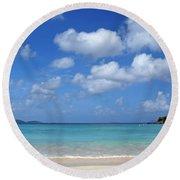Cinnamon Bay 6 Round Beach Towel