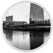 Cira Centre - Philadelphia Urban Photography Round Beach Towel