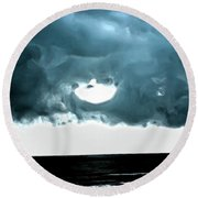 Circle Of Storm Clouds Round Beach Towel