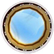Circle Skylight Round Beach Towel