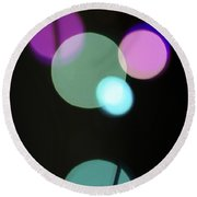 Circles And String Round Beach Towel by Susan Stone