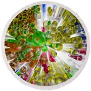 Circles In Perspective 3 Round Beach Towel