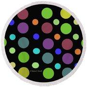Circles N Dots C21 Round Beach Towel