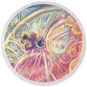 Circlewheel Of Life Round Beach Towel