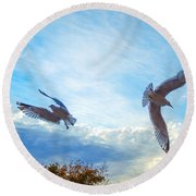Circling Wings  Round Beach Towel