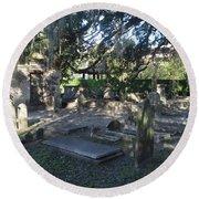 Circular Congregational Graveyard 1 Round Beach Towel