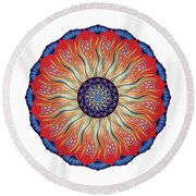 Circularium No. 2627 Round Beach Towel by Alan Bennington