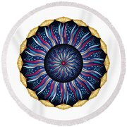 Circularium No 2633 Round Beach Towel by Alan Bennington