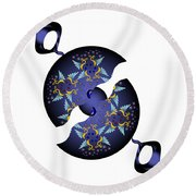 Circularium No 2634 Round Beach Towel by Alan Bennington