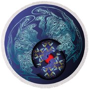 Circularium No 2636 Round Beach Towel