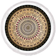 Circularium No 2637 Round Beach Towel by Alan Bennington